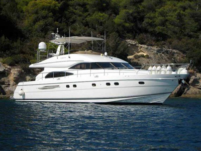 location bateau Princess 65