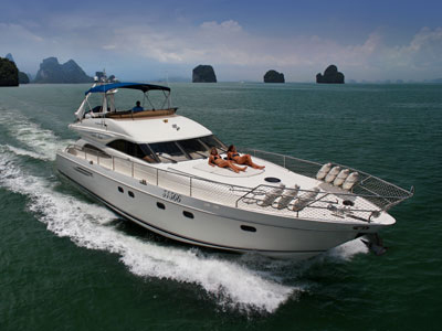 location bateau Princess 65 V