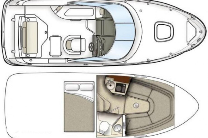 interno Sea Ray 240 SSE