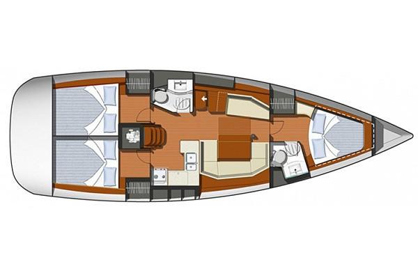 interno Sun Odyssey 42i