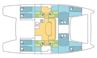 intérieur Catana 47 Custom