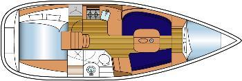 intérieur Beneteau 343