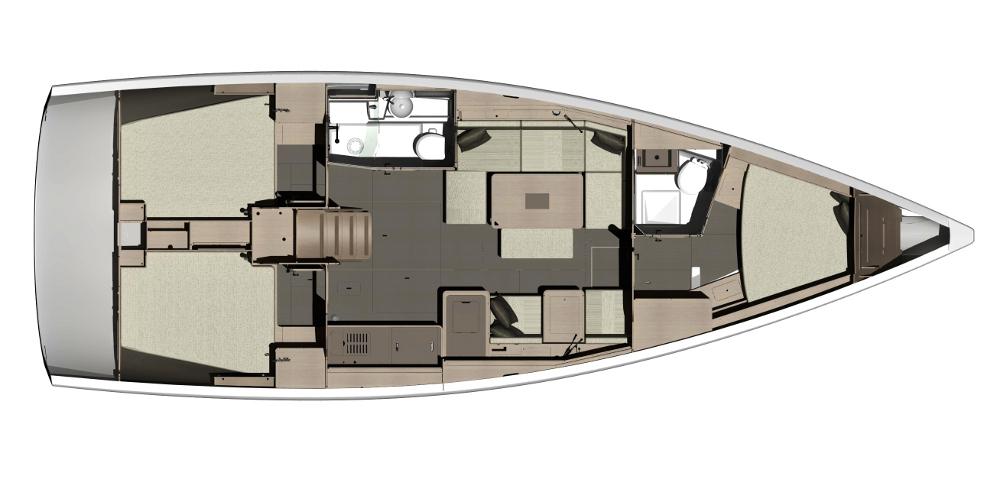 intérieur Dufour 410 GL