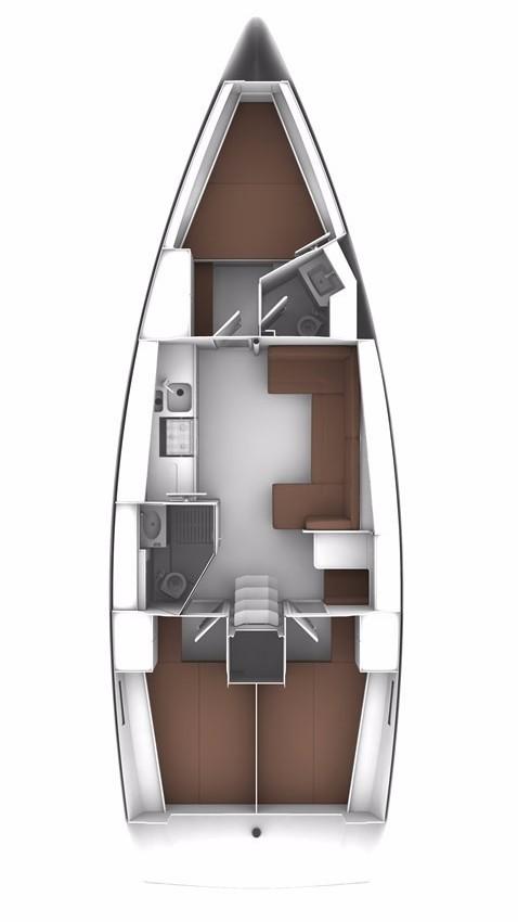 inside Bavaria Cruiser 41