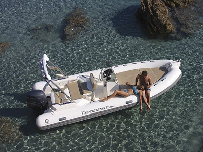 location bateau Tempest 600