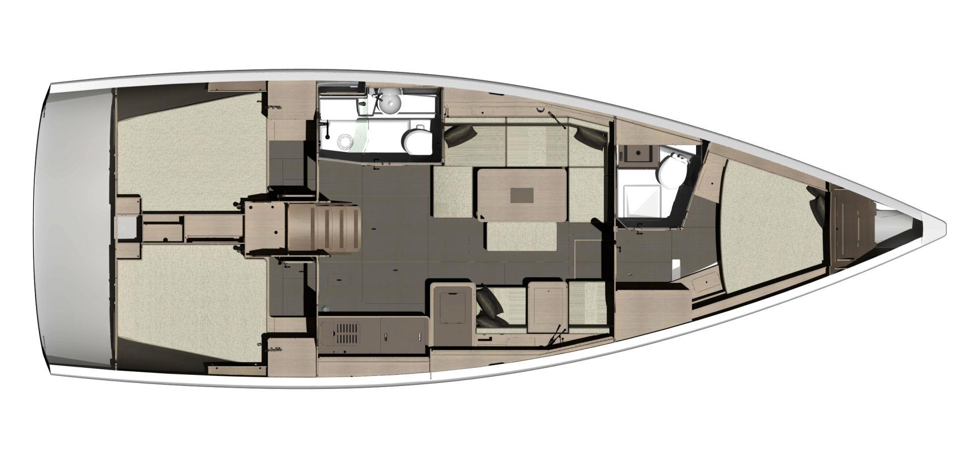 inside Dufour 412