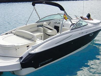 location bateau Monterey 268 SC
