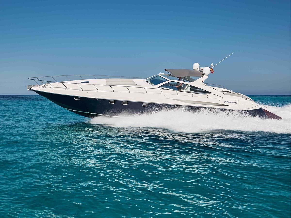 location bateau Alfamarine 60