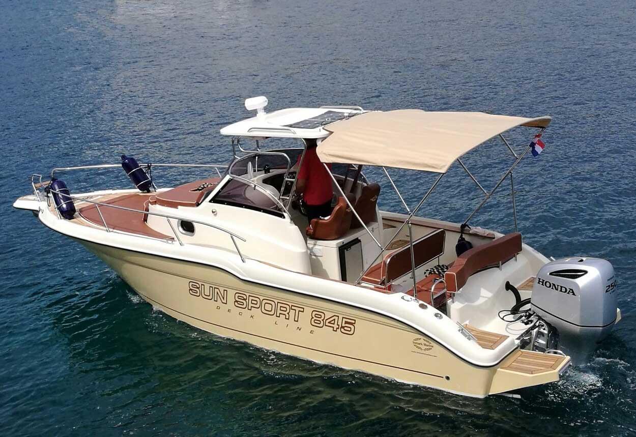 location bateau Sun Sport 845
