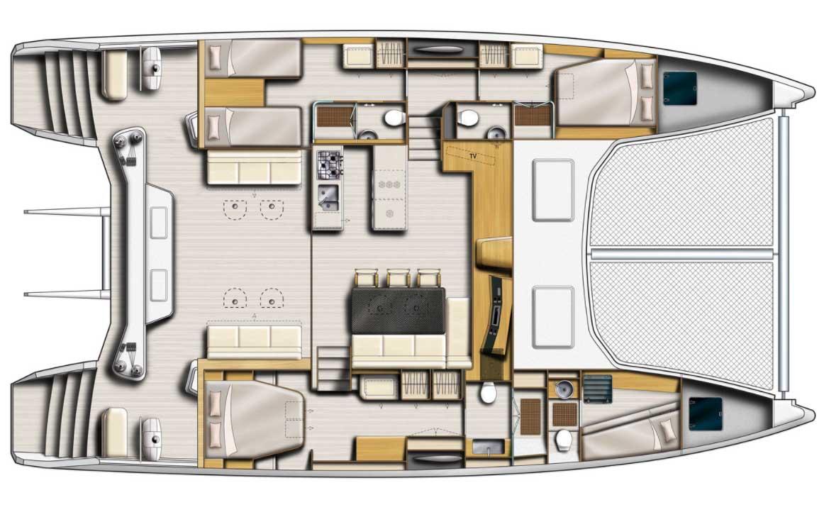 intérieur Catana 53