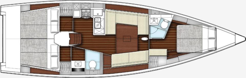 intérieur X-Yacht X4.3
