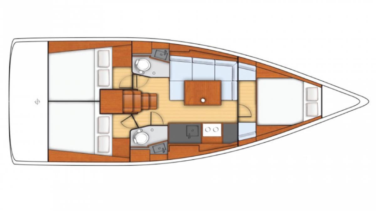 intérieur Sunsail Oceanis 38