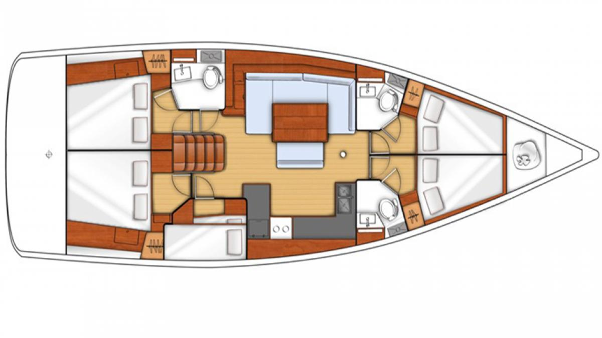 intérieur Sunsail Oceanis 48
