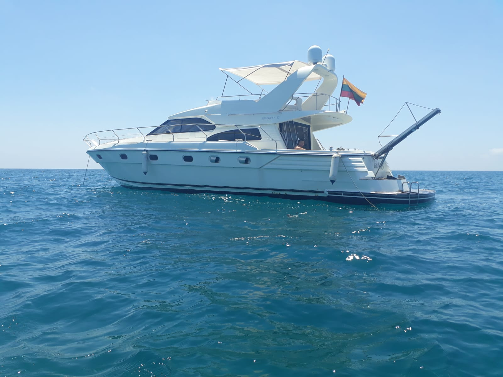 location bateau Sunquest 57