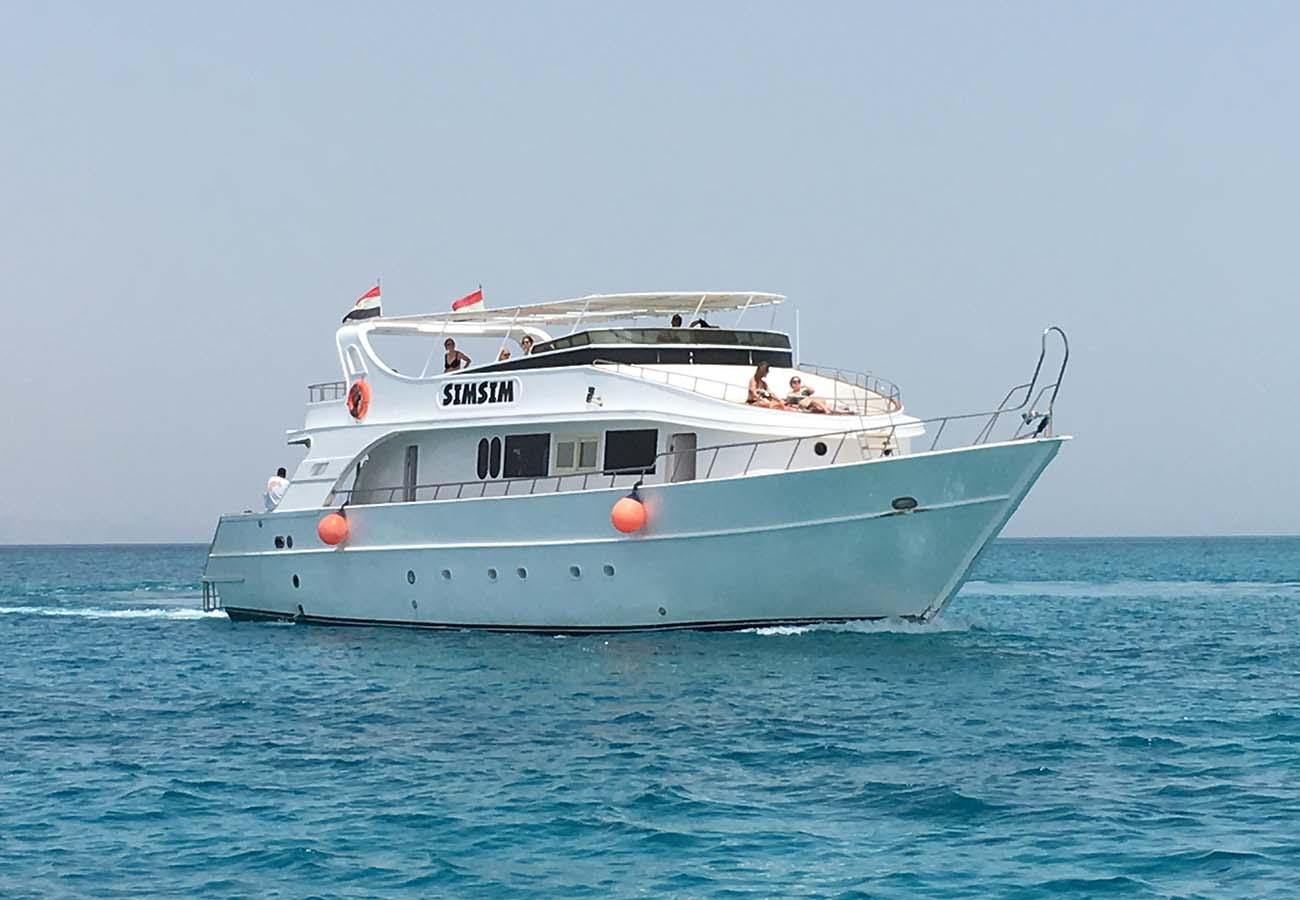 location bateau Simsim Dive