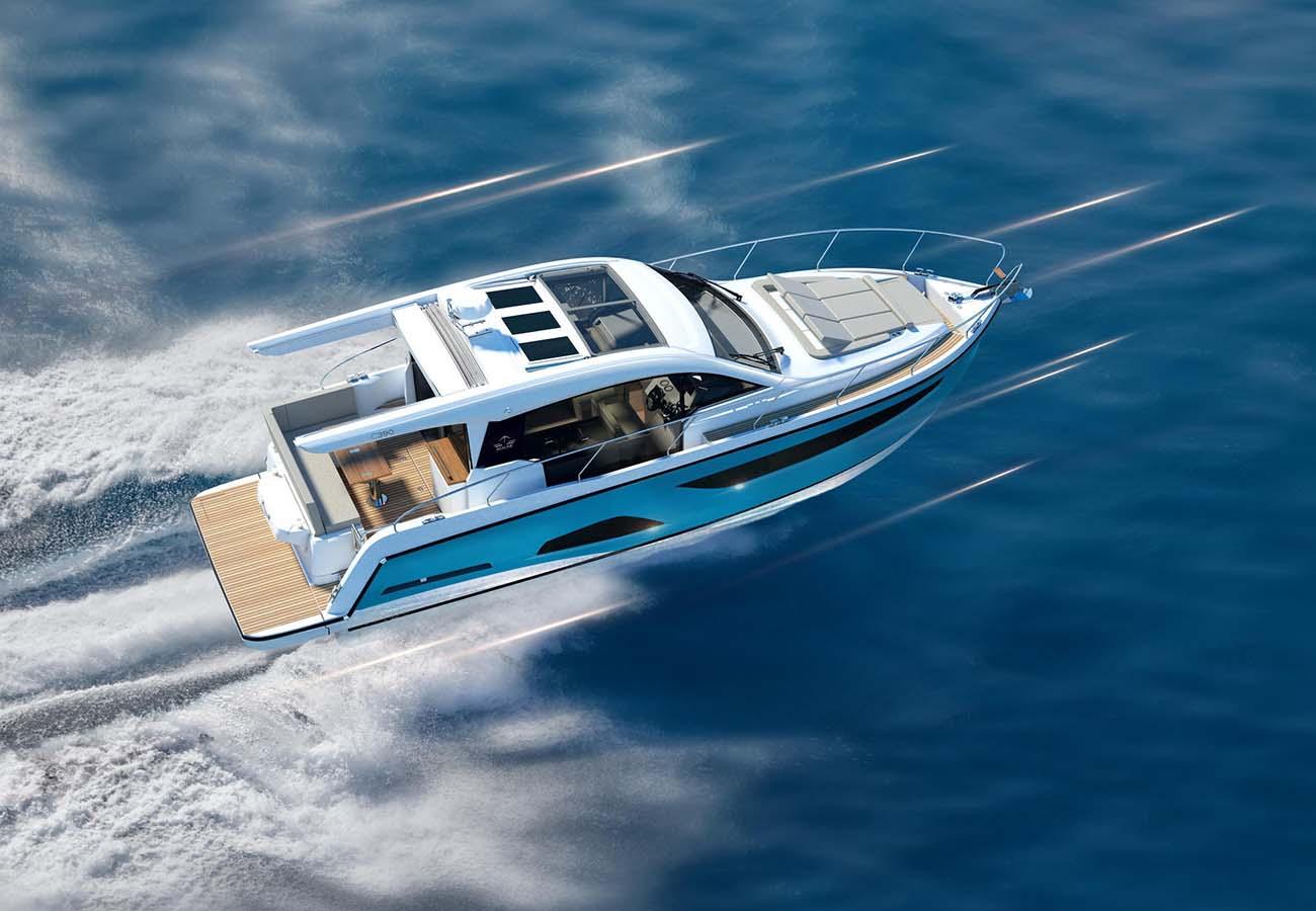 location bateau Sealine C390