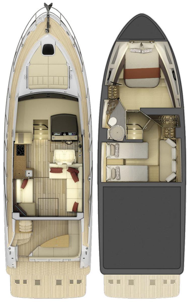 inside Sea Ray 400 DB