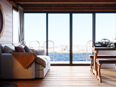 location bateau Eco-Wood 36 m2