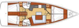 intérieur Sunsail Oceanis 45