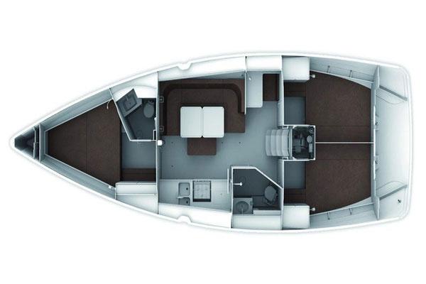 intérieur Bavaria Cruiser 41 Style