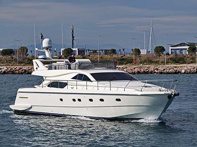 location bateau Ferretti 57 Fly