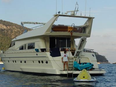 location bateau Astondoa 73