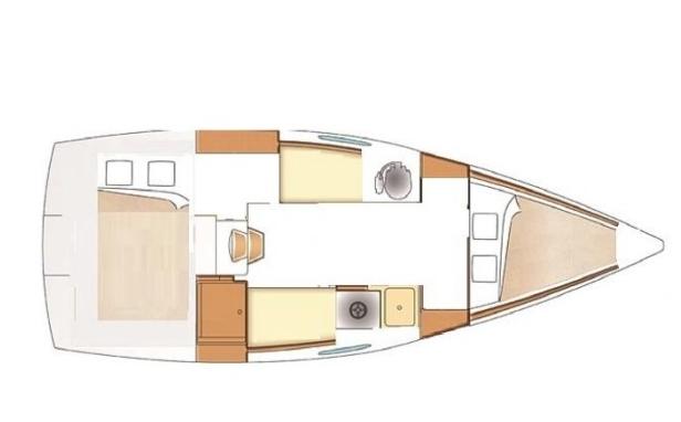 intérieur Beneteau 25