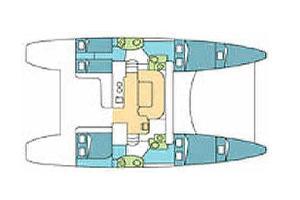 intérieur Catana 47 OC