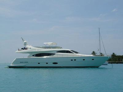 location bateau Ferretti 760