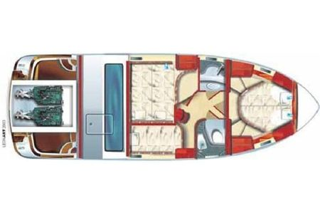 interno Galeon 330 Fly