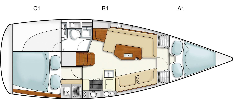 intérieur Hanse 325