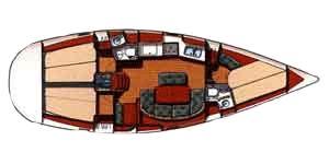 intérieur Oceanis 381