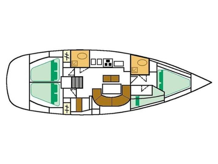 interno Oceanis 411