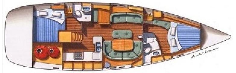 interno Oceanis 473
