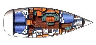 intérieur Oceanis Clipper 393