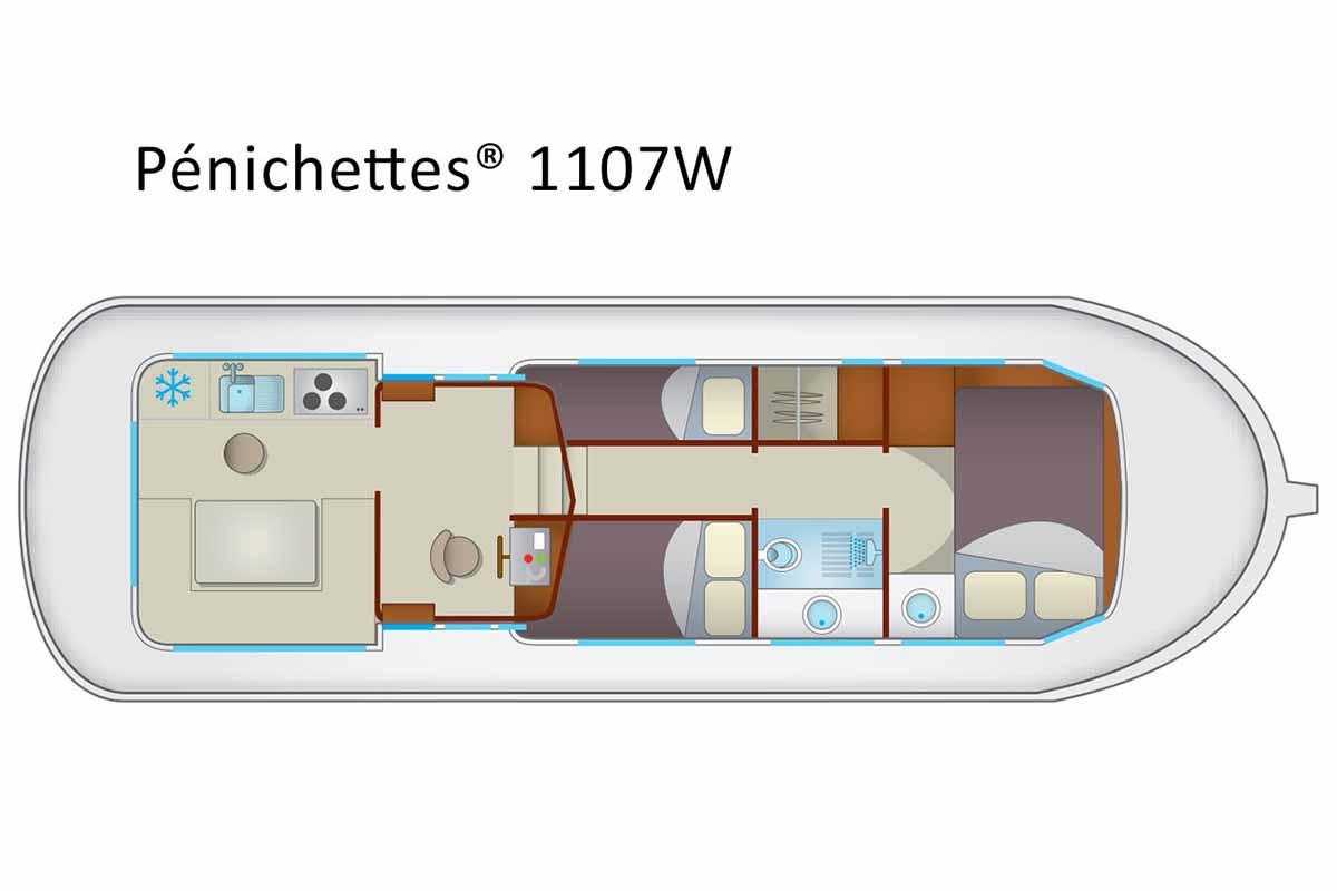 inside Penichette 1107 W